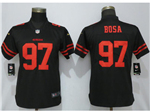 San Francisco 49ers #97 Nick Bosa Women's Black Vapor Untouchable Limited Jersey