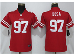 San Francisco 49ers #97 Nick Bosa Women's Red Vapor Untouchable Limited Jersey