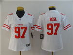 San Francisco 49ers #97 Nick Bosa Women's White Vapor Untouchable Limited Jersey