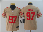 San Francisco 49ers #97 Nick Bosa Youth Gold Inverted Limited Jersey