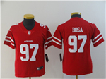 San Francisco 49ers #97 Nick Bosa Youth Red Vapor Untouchable Limited Jersey