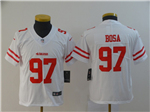 San Francisco 49ers #97 Nick Bosa Youth White Vapor Untouchable Limited Jersey
