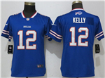 Buffalo Bills #12 Jim Kelly Women's Blue Vapor Untouchable Limited Jersey