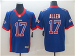Buffalo Bills #17 Josh Allen Blue Drift Fashion Limited Jersey