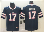 Buffalo Bills #17 Josh Allen Navy Inverted Limited Jersey
