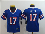 Buffalo Bills #17 Josh Allen Youth Blue Vapor Untouchable Limited Jersey