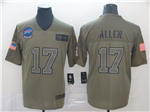 Buffalo Bills #17 Josh Allen 2019 Olive Salute To Service Limited Jersey