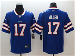 Buffalo Bills #17 Josh Allen Blue Vapor Untouchable Limited Jersey