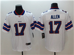 Buffalo Bills #17 Josh Allen White Vapor Untouchable Limited Jersey
