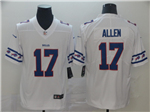 Buffalo Bills #17 Josh Allen White Team Logos Fashion Limited Jersey