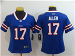 Buffalo Bills #17 Josh Allen Women's Blue Vapor Untouchable Limited Jersey