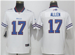 Buffalo Bills #17 Josh Allen Women's White Vapor Untouchable Limited Jersey