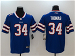 Buffalo Bills #34 Thurman Thomas Blue Vapor Untouchable Limited Jersey