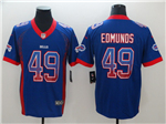 Buffalo Bills #49 Tremaine Edmunds Blue Drift Fashion Limited Jersey