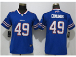 Buffalo Bills #49 Tremaine Edmunds Women's Blue Vapor Untouchable Limited Jersey