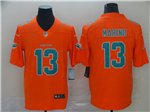 Miami Dolphins #13 Dan Marino Orange Inverted Limited Jersey