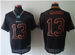 Miami Dolphins #13 Dan Marino Black Lights Out Elite Jersey