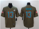 Miami Dolphins #13 Dan Marino 2017 Olive Salute To Service Limited Jersey