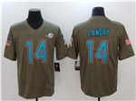 Miami Dolphins #14 Jarvis Landry 2017 Olive Salute To Service Limited Jersey