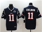 New England Patriots #11 Julian Edelman Blue Super Bowl LIII Vapor Untouchable Limited Jersey