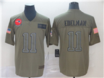 New England Patriots #11 Julian Edelman 2019 Olive Salute To Service Limited Jersey