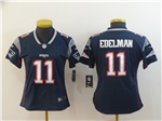 New England Patriots #11 Julian Edelman Women's Blue Vapor Untouchable Limited Jersey
