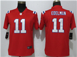 New England Patriots #11 Julian Edelman Women's Red Vapor Untouchable Limited Jersey