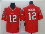 New England Patriots #12 Tom Brady Red Inverted Limited Jersey