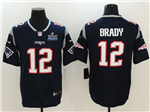 New England Patriots #12 Tom Brady Blue Super Bowl LIII Vapor Untouchable Limited Jersey