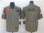New England Patriots #12 Tom Brady 2019 Olive Salute To Service Limited Jersey