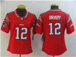 New England Patriots #12 Tom Brady Women's Red Inverted Limited Jersey