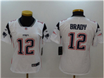 New England Patriots #12 Tom Brady Women's White Vapor Untouchable Limited Jersey