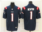 New England Patriots #1 Cam Newton 2020 Navy Vapor Untouchable Limited Jersey