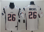 New England Patriots #26 Sony Michel White Vapor Untouchable Limited Jersey