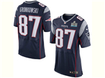 New England Patriots #87 Rob Gronkowski Elite Blue Jersey w/ Super Bowl LII Patch