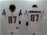New England Patriots #87 Rob Gronkowski Youth White Vapor Untouchable Limited Jersey
