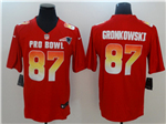 AFC New England Patriots #87 Rob Gronkowski Red 2018 Pro Bowl Game Jersey