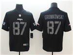 New England Patriots #87 Rob Gronkowski Black Vapor Impact Limited Jersey
