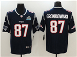 New England Patriots #87 Rob Gronkowski Blue Super Bowl LII Vapor Untouchable Limited Jersey