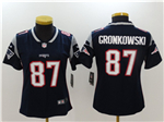 New England Patriots #87 Rob Gronkowski Women's Blue Vapor Untouchable Limited Jersey