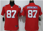 New England Patriots #87 Rob Gronkowski Women's Red Vapor Untouchable Limited Jersey