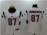 New England Patriots #87 Rob Gronkowski Women's White Vapor Untouchable Limited Jersey