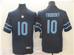Chicago Bears #10 Mitchell Trubisky Navy City Edition Limited Jersey