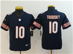 Chicago Bears #10 Mitchell Trubisky Youth Blue Vapor Untouchable Limited Jersey