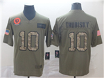Chicago Bears #10 Mitchell Trubisky 2019 Olive Camo Salute To Service Limited Jersey