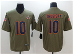 Chicago Bears #10 Mitchell Trubisky 2017 Olive Salute To Service Limited Jersey
