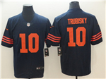 Chicago Bears #10 Mitchell Trubisky Alternate Blue Vapor Untouchable Limited Jersey