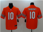 Chicago Bears #10 Mitchell Trubisky Orange Vapor Untouchable Limited Jersey