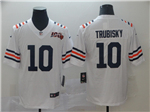 Chicago Bears #10 Mitchell Trubisky 2019 Alternate White 100th Season Classic Limited Jersey