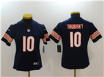 Chicago Bears #10 Mitchell Trubisky Women's Blue Vapor Untouchable Limited Jersey
